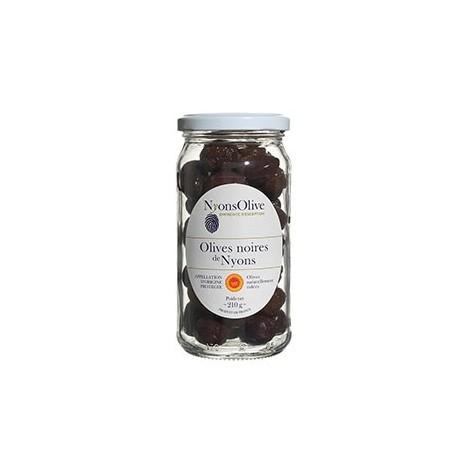 Bocal Olives noires de Nyons AOP nature 210GR