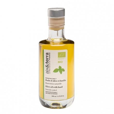 Préparation à base d'huile d'olive au basilic BIO 200ml