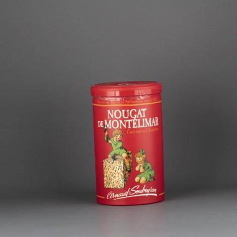 Nougat de Montélimar tendre – boite rouge papillotes 200gr