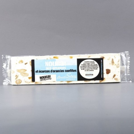 Nougat blanc à l'écorce d'orange confite – barre 100gr