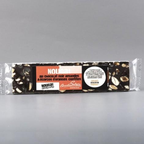 Nougat cacao et l'écorce d'orange confite – barre 100gr